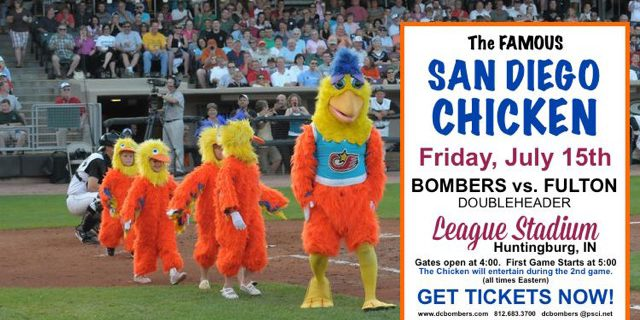 The Famous SAN DIEGO CHICKEN at Friday's Doubleheader