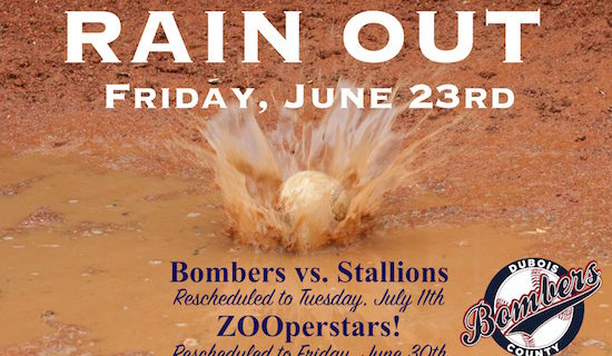 RAINOUT – June 23rd Bombers vs. Stallions/ZOOperstars!