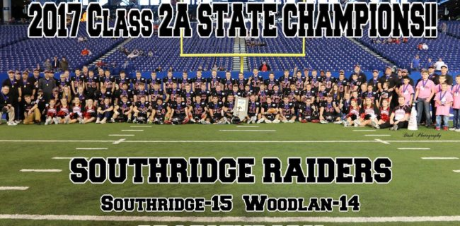 Raider Football State Champs Recognition