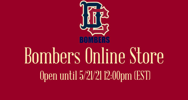 Bombers Online Store open until May 21st